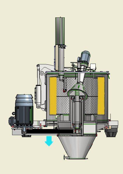 Centrifugeuse verticale à déchargement par le fond TM/S-IV pharmaceutique